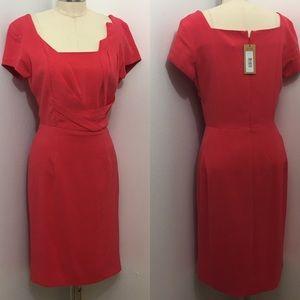 Zac Posen Z Spoke Dark Blush Fitted Dress